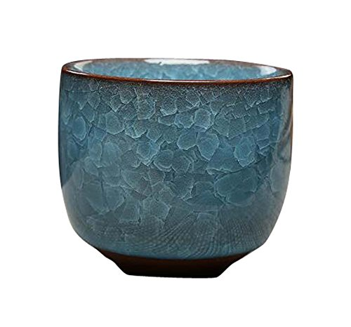 Black Temptation Set de 4 Tazas de té de Oficina, Tazas de Sake de Estilo japonés, Juegos de Vino de cerámica, D2