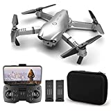 GAOFQ Drone Plegable, Mini Drones con cámara 4K HD para Adultos, Cámara Dual conmutable FPV Quadcopter, 360 °Flip, transmisión en Tiempo Real, Tiempo de Vuelo de 30 Minutos, 2 baterías