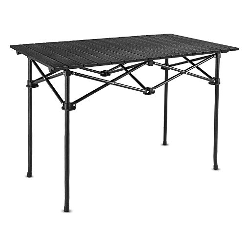 JCCOZ -T Mesa plegable de tamaño grande portátil para camping, resistente mesa de picnic para exteriores, camping, barbacoa, picnic, etc.
