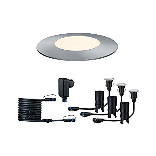 Paulmann 936.97 Outdoor Plug & Shine Floor Mini 3er-Basisset 3000K 3x2,5W 24V 93697 Bodeneinbauleuchte LED Aussenbeleuchtung