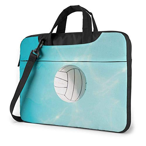 Lawenp Estuche para computadora portátil Bolsa de computadora Funda para manga Voleibol acuático Maletín impermeable para hombro 13 14 15.6 pulgadas