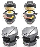Hamilton Beach Breakfast Sandwich Maker Kitchen Counter Top Press (4 Pack)