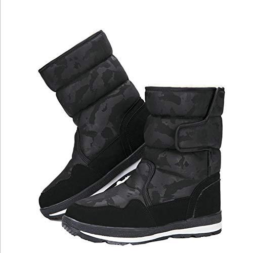 Botas de Nieve for Niños, Niñas Y Niños de Invierno A Prueba de Agua, Zapatos Cálidos Al Aire Libre, Más Terciopelo Acolchado for Padres Y Niños Zapatos de Algodón. ( Color : E , Size : 39 )