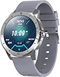 Smart Watch Smart Watches <span class='highlight'>1.3</span> <span class='highlight'>inch</span> <span class='highlight'>Full</span> Touch Screen <span class='highlight'>IP68</span> <span class='highlight'>Waterproof</span> Pedometer Smart watch that can play music and make calls-Grey