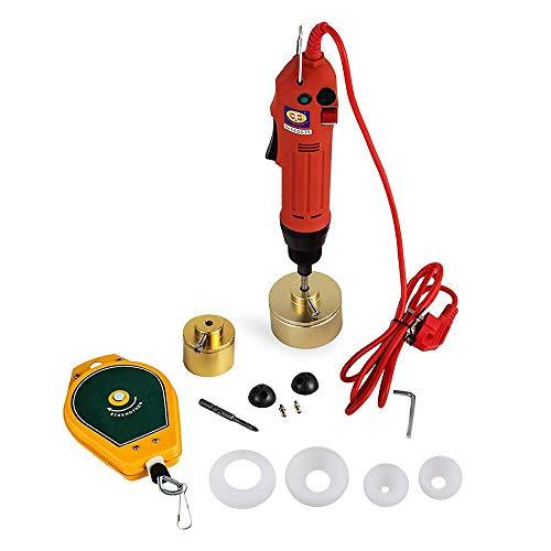WYZXR Máquina taponadora de Botellas eléctrica 220V tapón de Rosca Manual tapadora de Tapa 10-50mm Punta de Tornillo semiautomática portátil