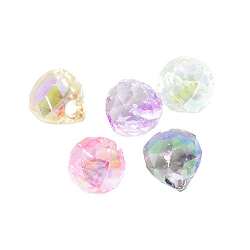 5 Pieces Acrylic Crystal Beads Top Drilled Faceted Teardrop Drop Bead Charms - 4# Water Drop