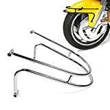BAIONE Front Fender Trim Rail Guard Replacement for Honda Goldwing 1800 GL1800 F6B 2001-2017 Motorcycle Frame Bar Protector Chrome Accessories (Chrome)