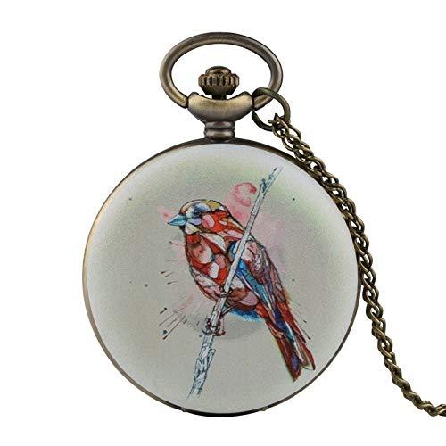 LLXXYY halsketting zakhorloge vintage heren dames kerstcadeau unisex, nieuw unieke kleurrijke vogel kwarts horloges mode horloges mannen analoog horloge halsketting hanger geschenken voor kinderen
