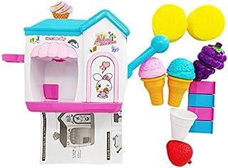 JVSISM Bath Toys for Toddlers Foam Maker Bathtub Ice Cream Bubble Pretend Cake Set Tub Water Bathtime Toys Kids