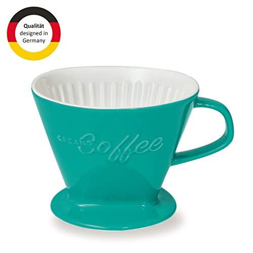 Creano Porzellan Kaffeefilter, Filter Größe 4 (Grün) In 6 Farben erhältlich