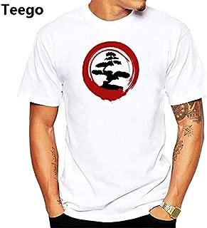 Peace Design Bonsai Art Tshirt Men jollypeach White Casual t Shirt Homme Comfortable Skin Friendly Plus Size t-Shirt : pn1987, Men XXXL