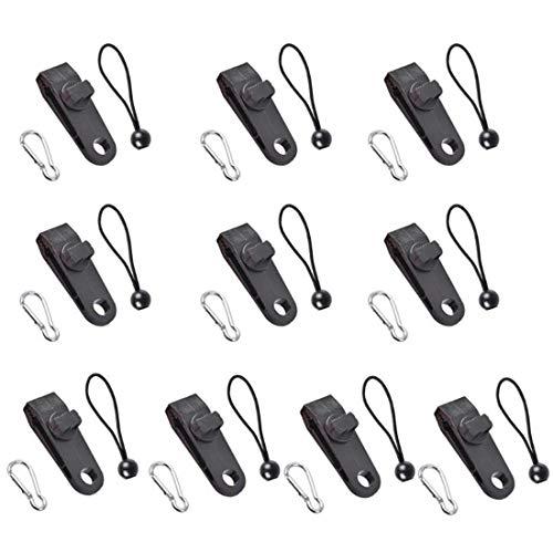 BOINN Juego de 10 clips para lona, clips para tiendas de campaña, clips y cables para sujetar lonas y toldos