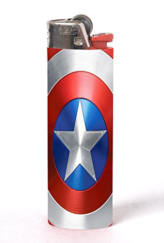 Civil War Shield Print 2 PACK Vinyl Decal Wrap Skin Stickers for Bic Lighters by LE Prints