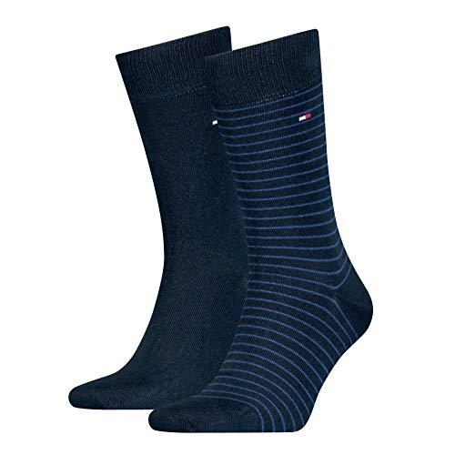 Tommy Hilfiger Kleine Streifen Herren Socken (2er Pack),tommy blue,43/46