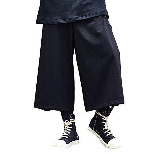 WEEN CHARM サルエルパンツ 変形 アラジンパンツ メンズ 巻きドレープ ワイドパンツ ジョガーパンツ ゆったり 男女兼用 オシャレ 袴パンツ ウエストゴム リラックスパンツ ヒップホップ パンツ ブラック系 オールシーズン対応