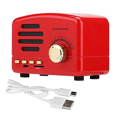 DAUERHAFT Madera Altavoz de Escritorio Bajo estéreo Micrófono USB Bajo estéreo Radio Tarjeta de Memoria Soporte Señal Estable Altavoz estéreo bajo Eficiencia del Tubo para(Red)
