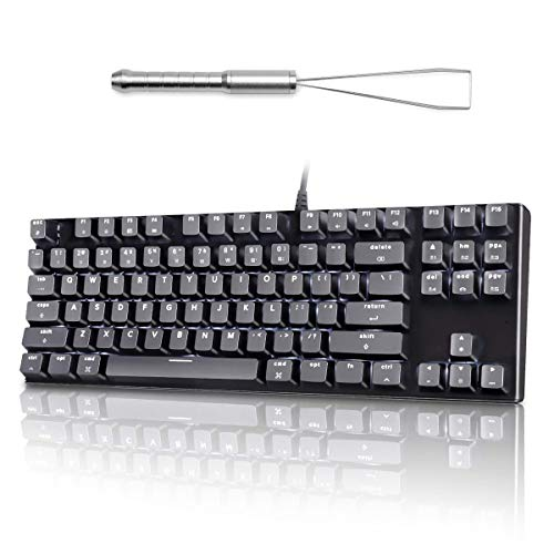 best mechanical keyboards for mac 2021 VELOCIFIRE M87 Mac Layout Mechanical Keyboard with Silver 3 in 1 Keycap Puller
