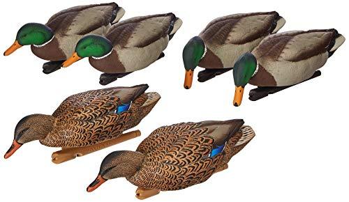 AvianX Top Flight Duck Back Water Mallard Decoy (6 Pack), Green, One Size (8070)