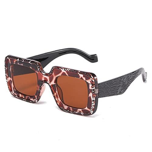 U/N Gafas de Sol cuadradas para Hombre, Montura de patrón Retro, Gafas de Sol para Mujer, anteojos de Lujo con Patas Anchas-3