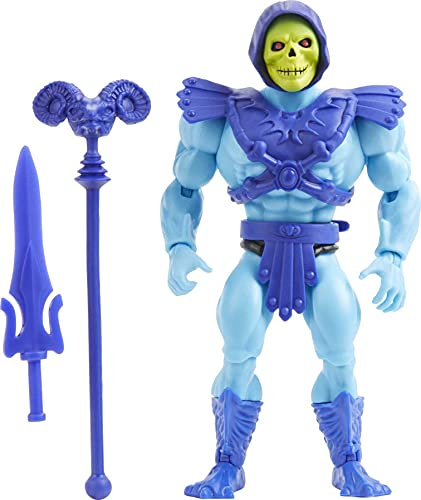 Masters of the Universe Origins Skeletor Action Figure, Battle Character for Storytelling Play and Display, Gift for 6 to 10 Year Olds and Adult Collectors