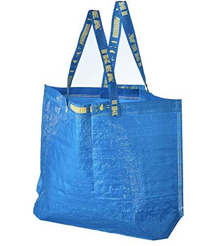 4 Ikea Frakta Shopping Bags 10 Gal Blue Tote Multi Purpose Durable Material by Ikea