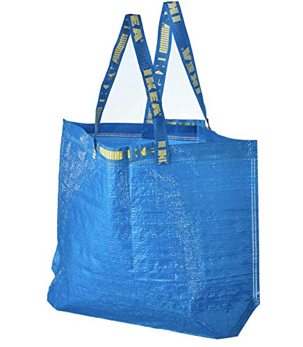 4 Ikea Frakta Shopping Bags 10 Gal Blue Tote Multi Purpose Durable Material by Ikea