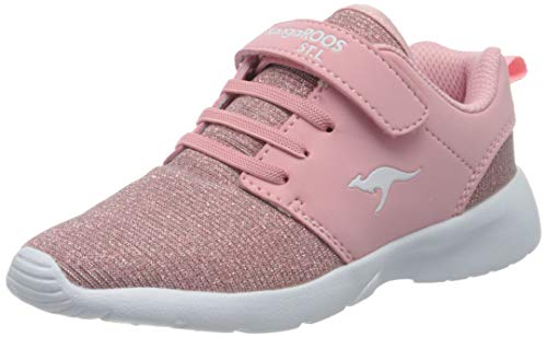 KangaROOS Hinu EV, Unisex-Kinder Sneakers, Rot (Frost Pink Metallic 6084), 37 EU
