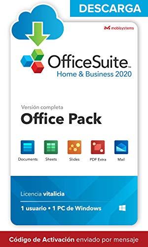 OfficeSuite Home & Business 2020 - DESCARGA / Licencia Online - Compatible con Word®, Excel®, PowerPoint® para PC Windows 10 8.1 8 7 (1PC/1Usuario)