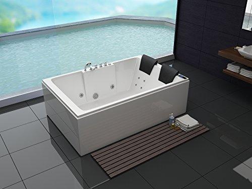 Bañera de hidromasaje de lujo con equipo completo (masaje) (180x 120cm)