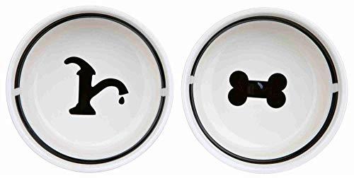 Trixie 24642 Eat-on-Feet Napf-Set, 2 × 1,6 l/ø 20 cm, weiß/schwarz - 3