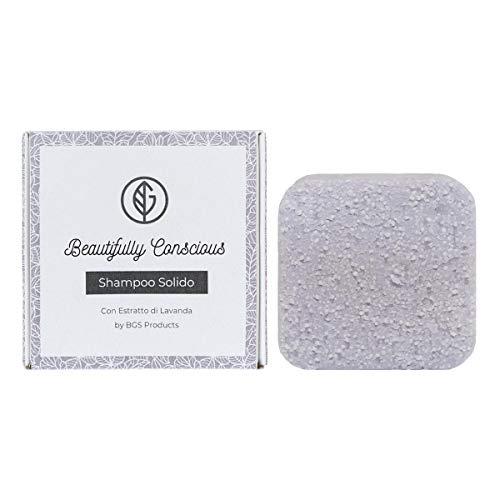 Shampoo Solido Bio Purificante e Nutriente Lavanda per Capelli, 100% Artigianale Biologico Italiano...