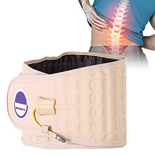 Cintura di supporto per la vita per donne e uomini, per la schiena e la colonna vertebrale, gonfiabile, cintura di protezione fisiologica, per trazione, decompressione, supporto lombare