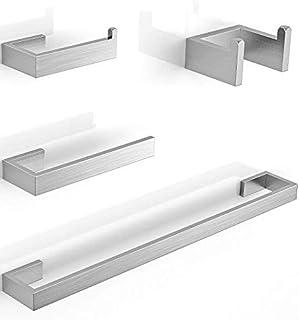 Juego de accesorios para toallero Soporte para papel higiénico Anillo para toalla Gancho para bata de baño Juego de acceso...