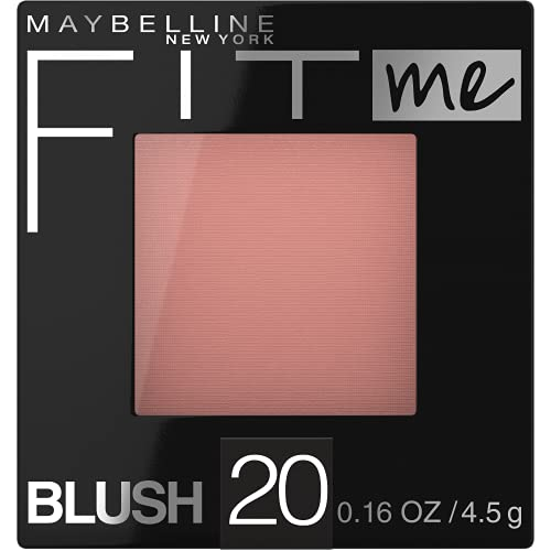 Maybelline New York Fit Me Blush, Mauve, 0.16 Ounce