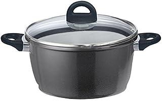 Elo 63416 Black Vision - Olla para cocinar con tapa, hierro fundido, negro, 16 x 16 x 12 cm, 1.4 l
