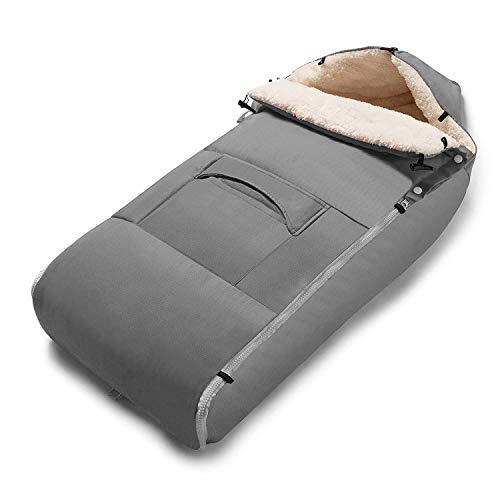Minetom Fußsack für Kinderwagen Universeller Winterfußsack Wasserdicht Fußsack Anti-Rutschschutz Design mit warmes und weiches Fleece,Fußsack für Sportwagen & Buggy