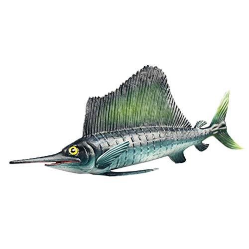 YeahiBaby Schwertfisch Figur Meerestiere Tierfiguren Früherziehung Spielzeug Mitgebsel Kindergeburtstag Badespielzeug für Baby Kinder Aquarium