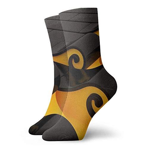 Be-ryl Calcetines de algodón con Pantalla panorámica Abstracta 3D Calcetines Deportivos Unisex