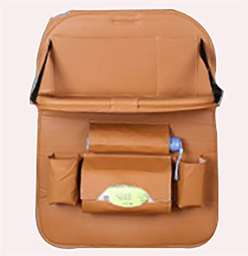 Why Choose BAOYUANWANG Arge Capacity Car Rear Seat Storage Bag, Leather Car Seat Back Organizer Protective Cover, Suitable for Daily Life Travel Keep The seat Clean