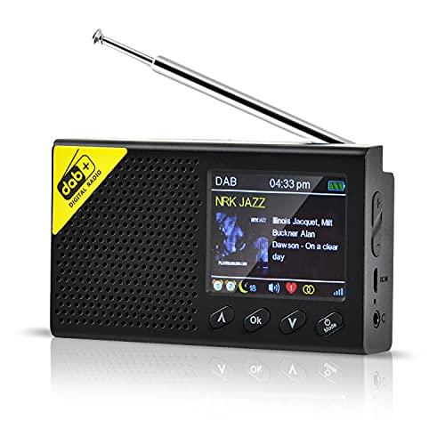 Petite radio numérique DAB - Bluetooth 5.0 - Radio portable DAB DAB+ FM - Pour la pêche, les voyages, le camping