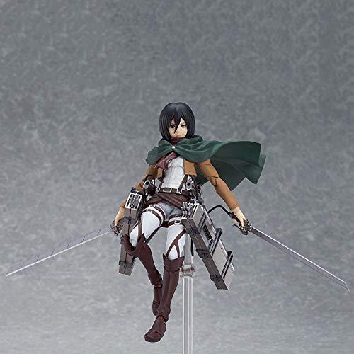 STKCST Ataque a los Titanes Mikasa Allen Soldado capitán Anime Figura versión Estatua muñeca Escultura Juguete decoración Modelo Altura 19 cm
