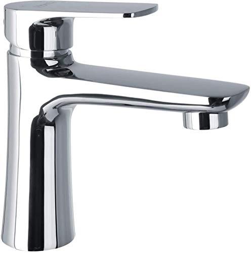 Waschtischarmatur Bad Eckig Waschbeckenarmatur für Badzimmer Badarmatur Wasserhahn Edelstahl Waschtischbatterie Einhebelmischer Mischbatterie Hochdruck Chrom