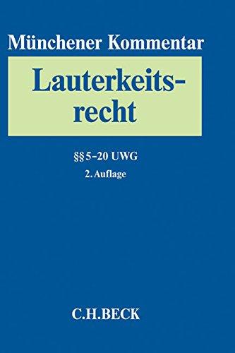 Münchener Kommentar zum Lauterkeitsrecht Bd. 2: §§ 5-20 UWG