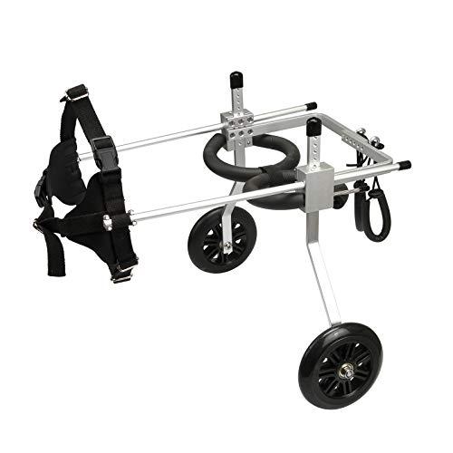 2 Räder Beste Hunde-Rollstühle für schwache gelähmte Behinderte Hinterbeine Pet Hunde Einstellbare Aluminium-Hundwagen (Size : Large)