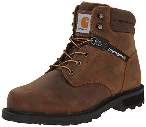 """Carhartt Men's CMW6174 Traditional Welt 6"""" Soft Toe Non WP Boot Construction Shoe, Dark Brown Oil Tanned, 13"""