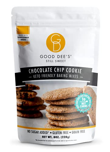 Good Dees Low Carb Baking Mix, Chocolate Chip Cookie Mix, Keto Baking Mix, Gluten Free, Dairy-Free, Nut-Free, Soy-Free, IMO-Free, Diabetic, Atkins & WW Friendly (1g Net Carbs, 12 Servings)