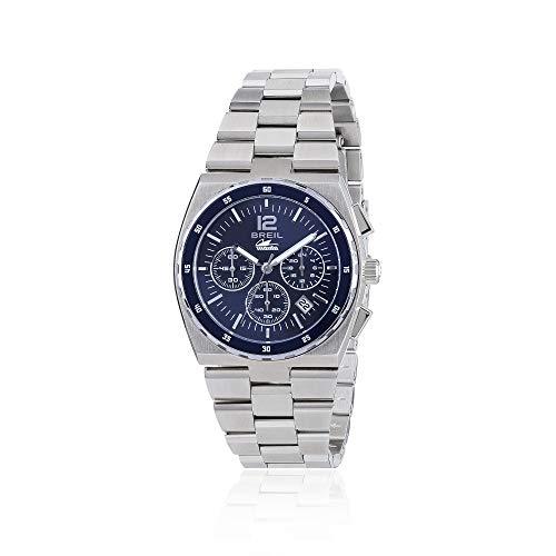 Breil Damen Chronograph Quarz Smart Watch Armbanduhr mit Edelstahl Armband TW1690