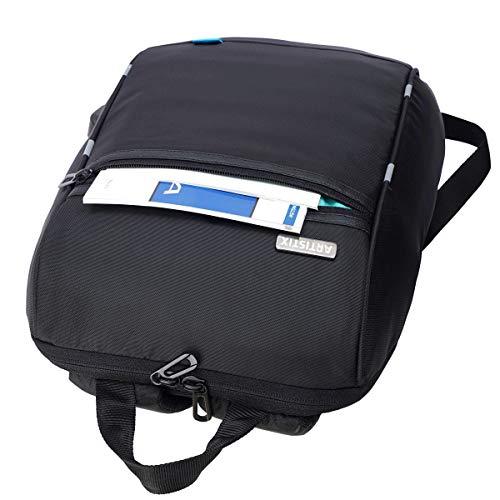 Artistix Talon Laptop Backpack Bag, Anti-Theft Design, with USB Charging Port, Water Resistance (46 cm Black)