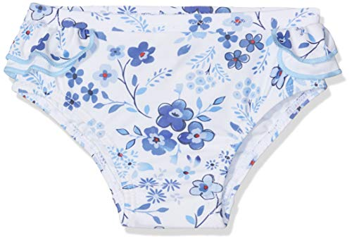 Chicco Costume Da Bagno Slip Ensemble de Bain, Turquoise (Bianco E Azzurro 032), 52 (Taille Fabricant: 056) Bébé Fille