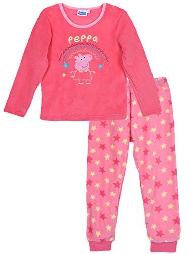 Peppa Pig - Pijama de invierno para niños (forro polar),